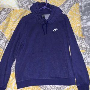 Purple roll neck Nike hoodie